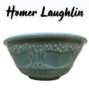 Vintage 1930s Homer Laughlin Appletree Mixing Bowl